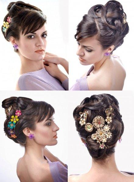Современные свадебные прически для средних волос